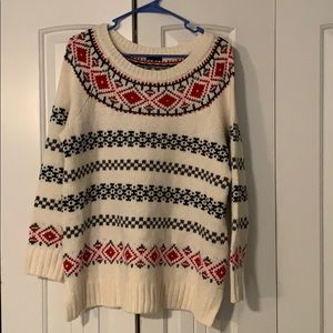 1X Talbots Womens fair isle sweater